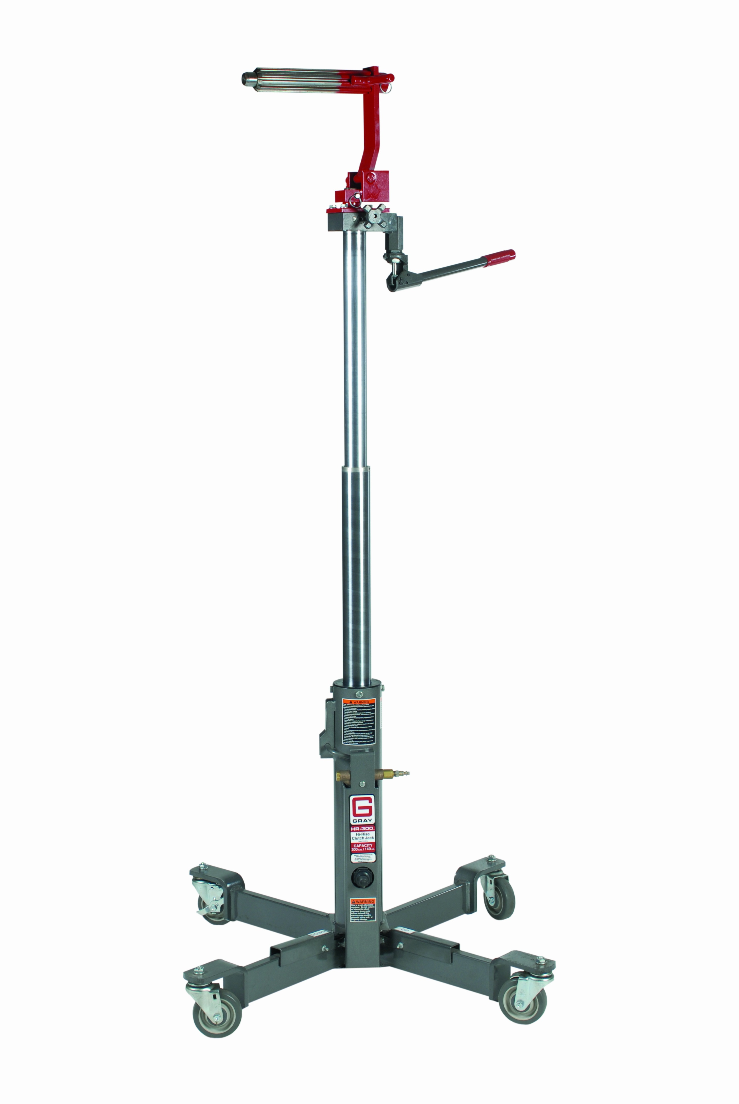 The head design on Gray Manufacturing's HR-300 rotates 360 degrees and folds back to allow easy removal of components.