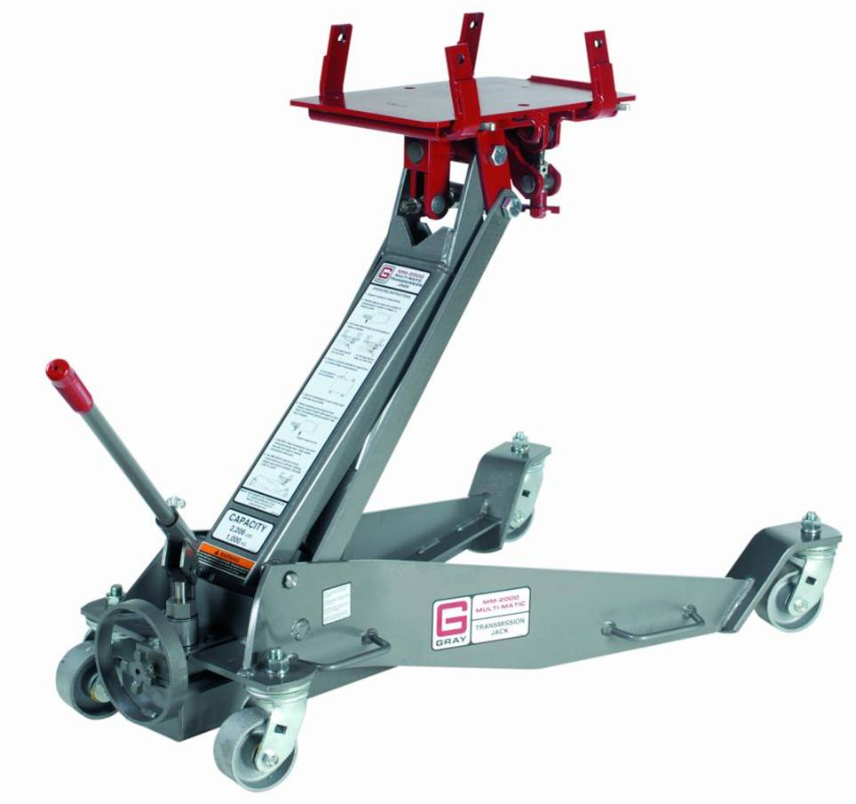 The MM-2000 is one of Gray Manufacturing's innovative transmission jacks that features adapters for other components.