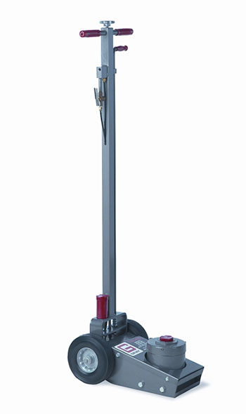 The TSL-50 tire jack offers 50,000 lbs. of capacity and an anti-corrosive internal system to protect the air jack.